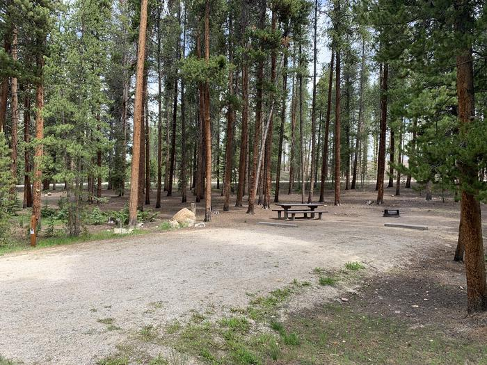 Molly Brown Campground, site 47 parking