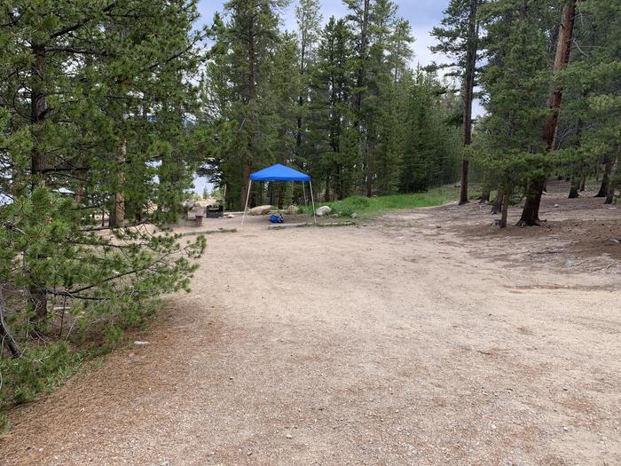 Molly Brown Campground, site 4 parking 2