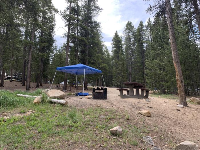 Molly Brown Campground, site 4 side view 2