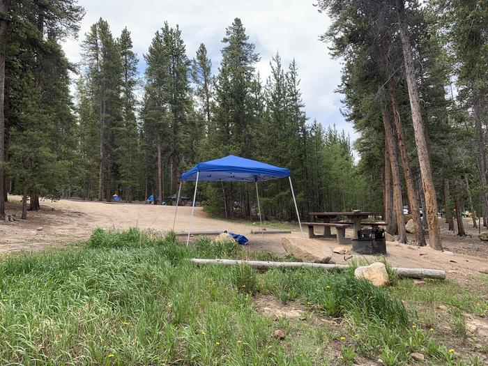 Molly Brown Campground, site 4 side view 4