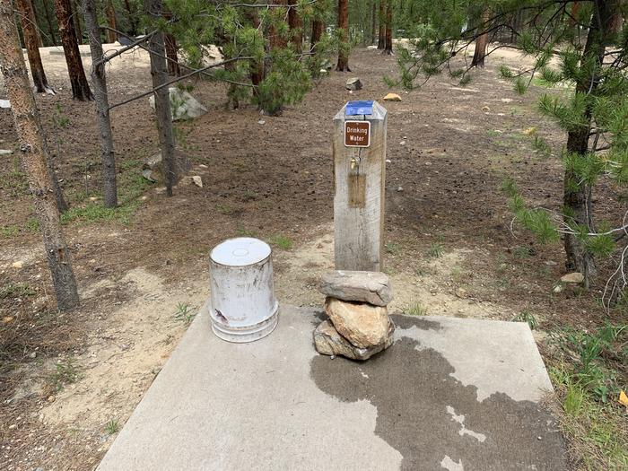 Water spigot adjacent to Molly Brown Campground, site 28