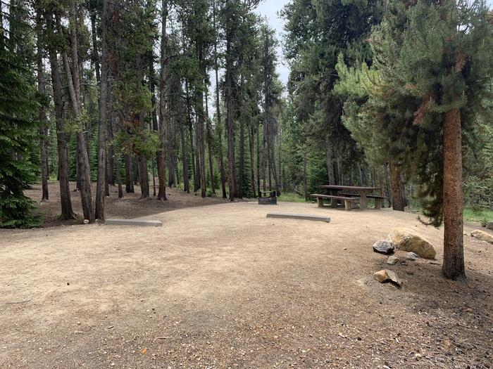 Molly Brown Campground, site 14 parking 3