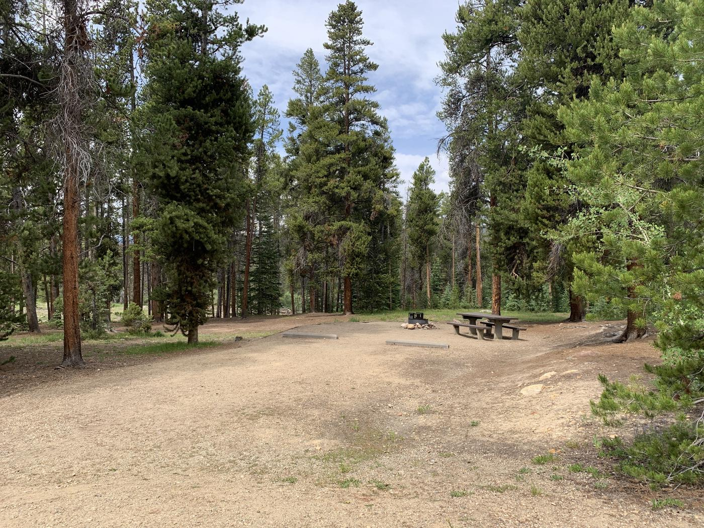 Molly Brown Campground, site 36 parking