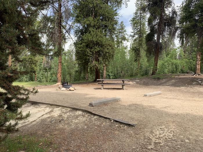 Molly Brown Campground, site 36 site view