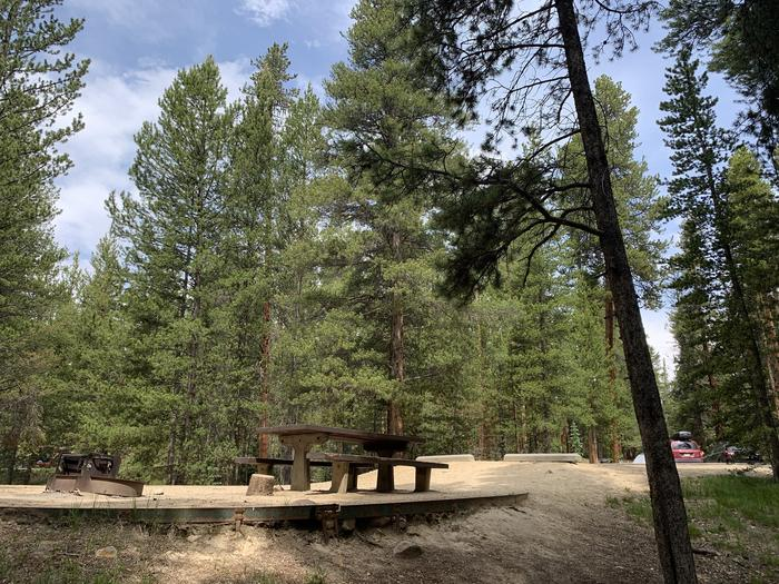 Molly Brown Campground, site 41 picnic table and fire ring 3