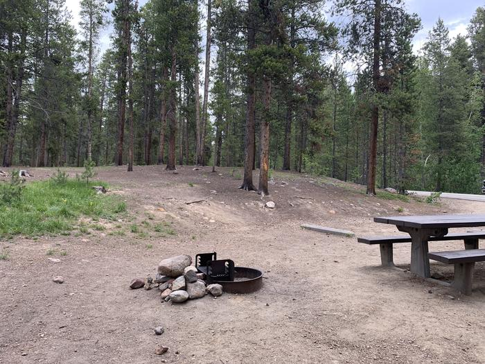 Molly Brown Campground, site 17 picnic table and fire ring 3