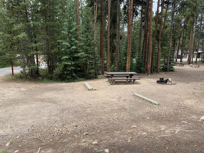 Molly Brown Campground, site 17 parking 2