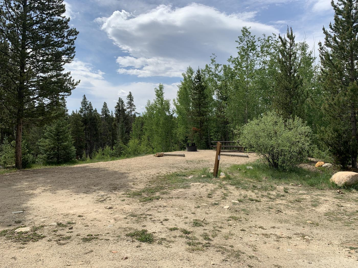 Molly Brown Campground, site 38 view