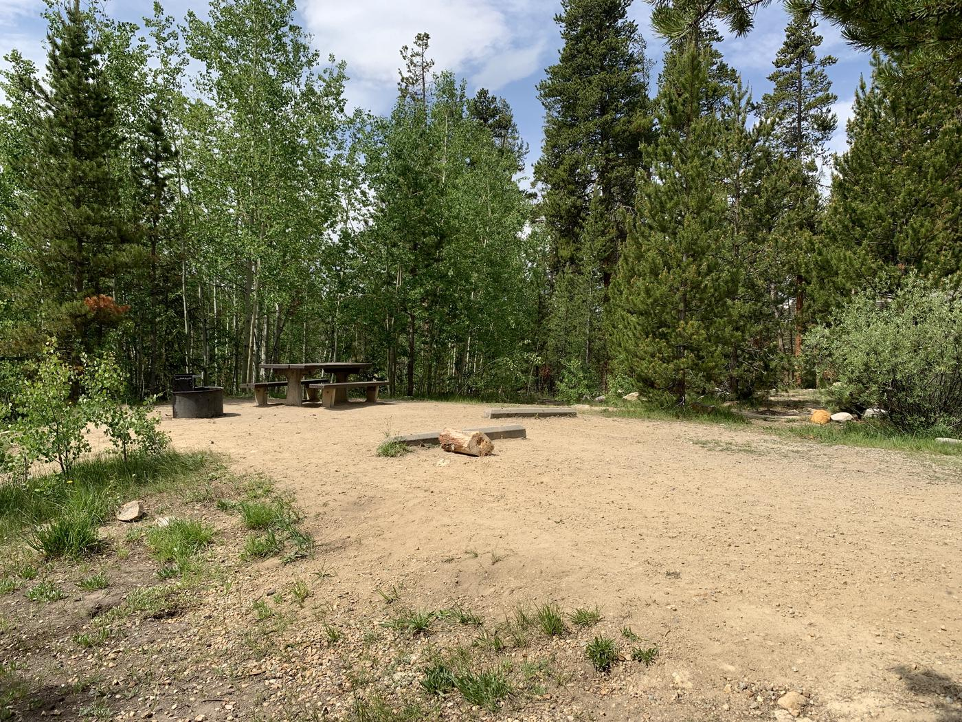 Molly Brown Campground, site 38 parking 4