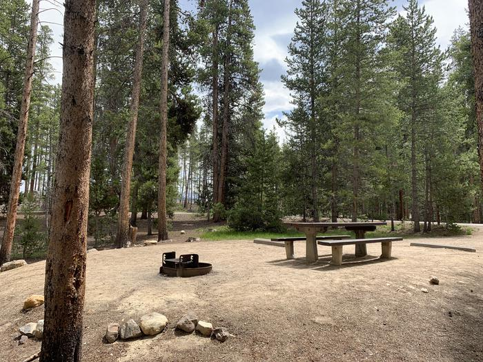 Molly Brown Campground, site 27 picnic table and fire ring 3