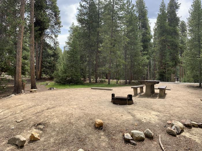 Molly Brown Campground, site 27 picnic table and fire ring 4