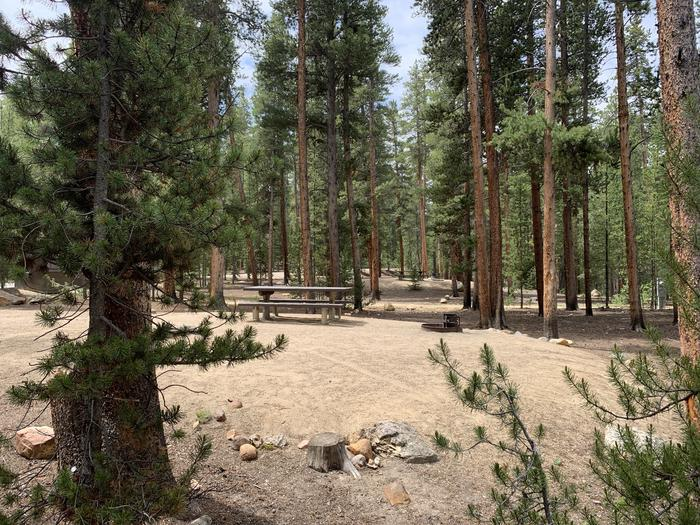 Molly Brown Campground, site 27 site view
