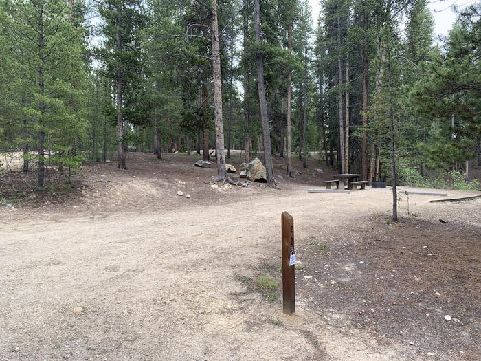 Molly Brown Campground, site 22 marker 2