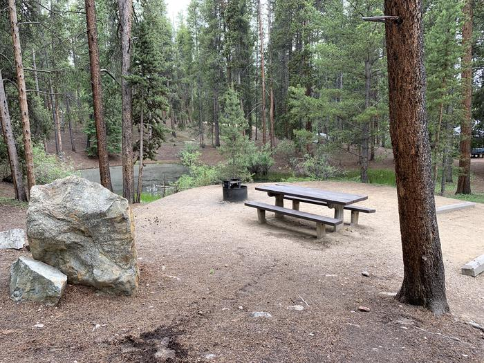 Molly Brown Campground, site 22  picnic table and fire ring 2