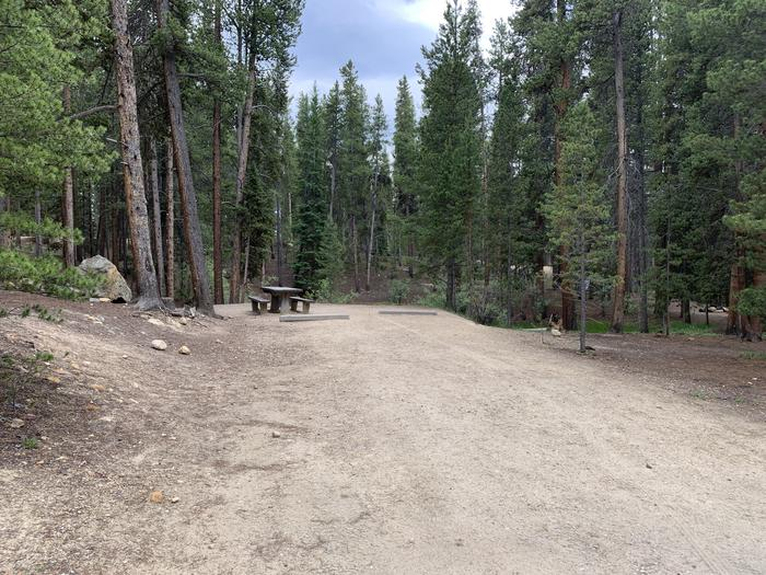 Molly Brown Campground, site 22 parking 2