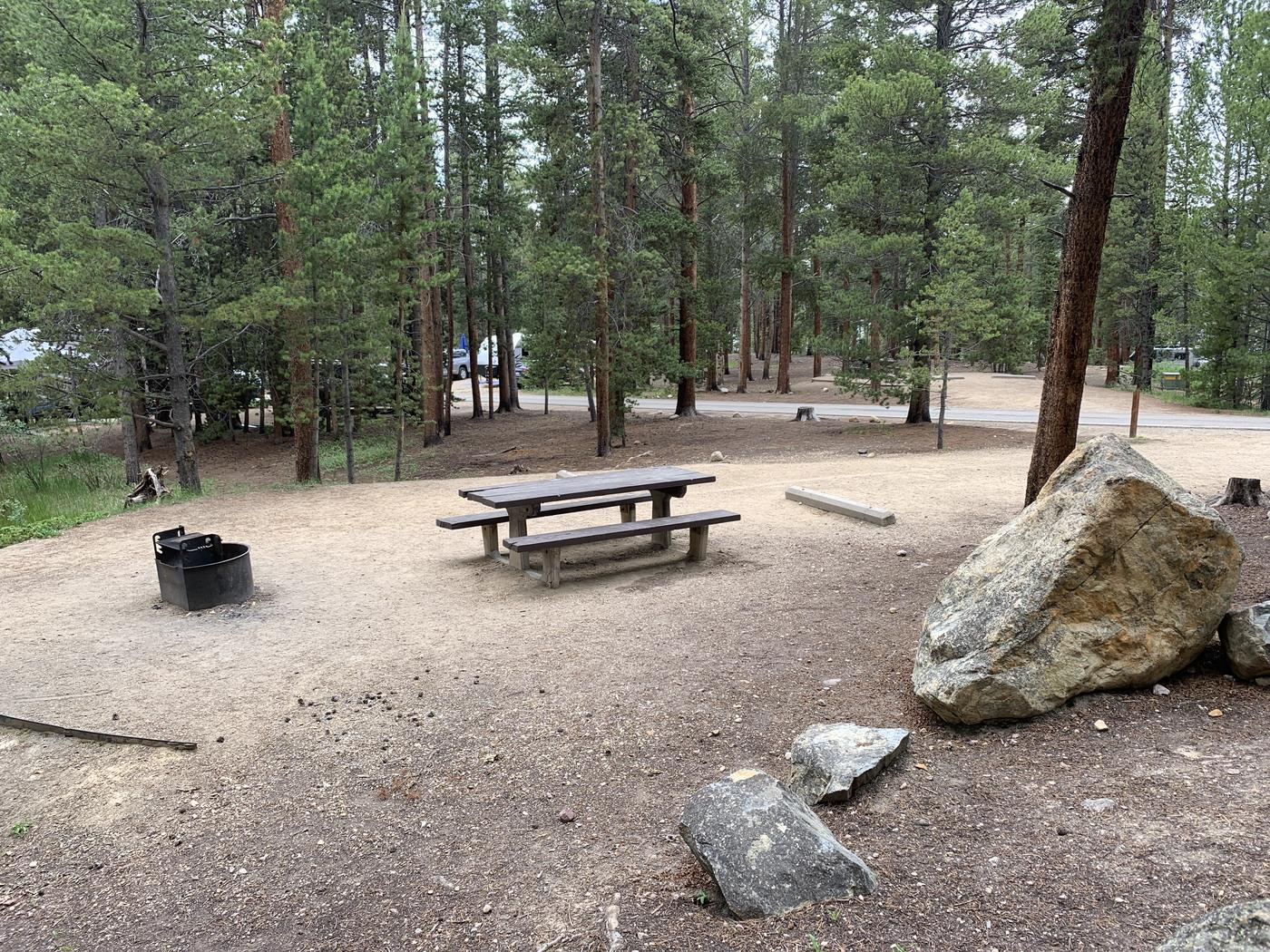Molly Brown Campground, site 22  picnic table and fire ring 4