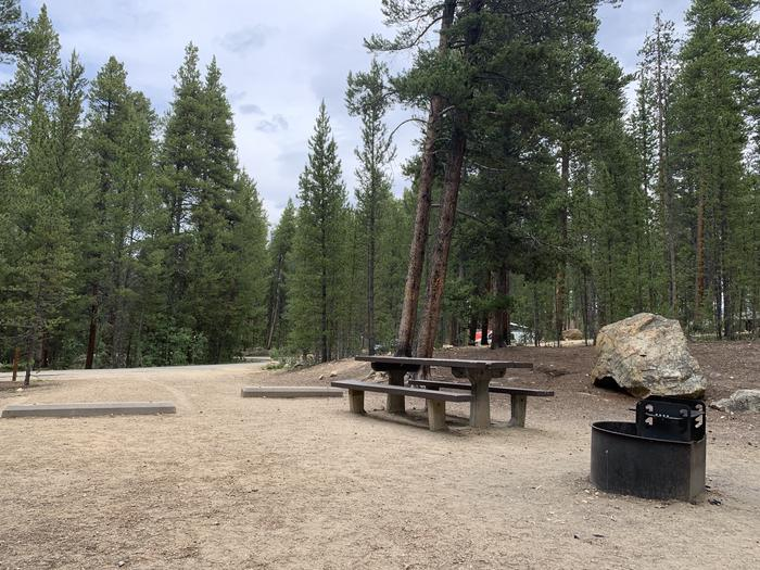 Molly Brown Campground, site 22  picnic table and fire ring 8
