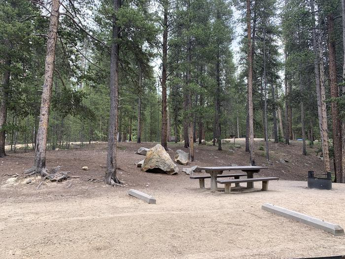 Molly Brown Campground, site 22  parking 3