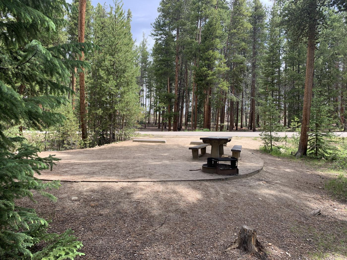 Molly Brown Campground, site 46 site view