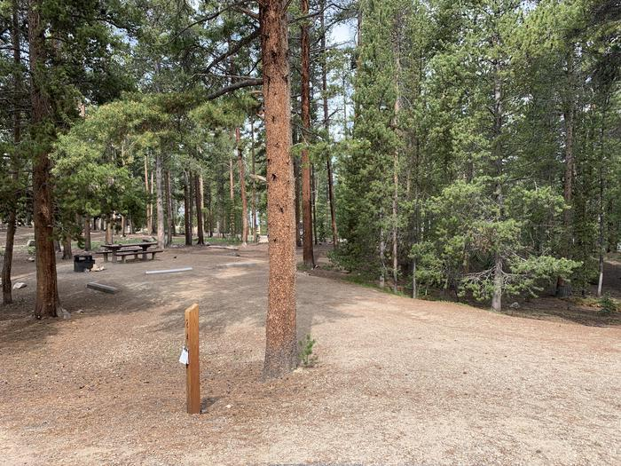 Molly Brown Campground, site 24 parking 2