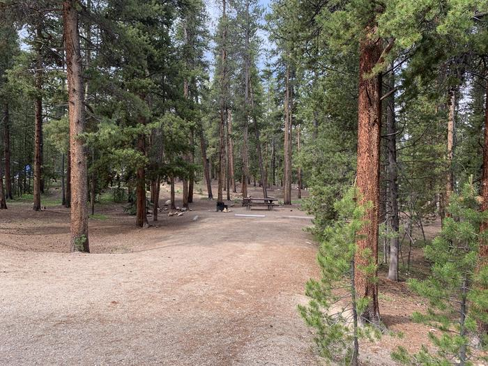 Molly Brown Campground, site 24 parking 3