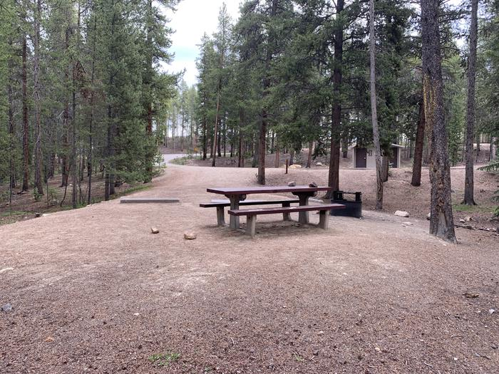 Molly Brown Campground, site 24 picnic table and fire ring 2