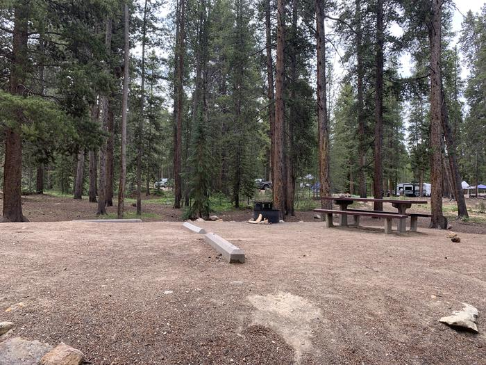 Molly Brown Campground, site 24 side view 2