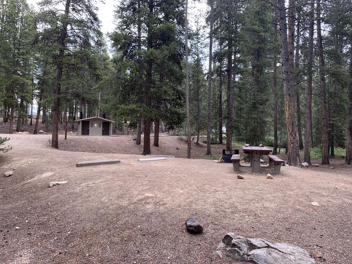 Molly Brown Campground, site 24 side view