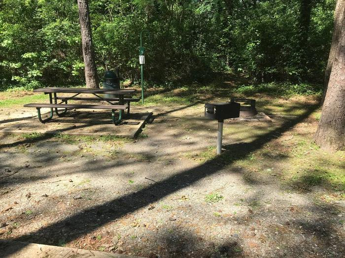 Shaded Class A Campsite #9.Shaded Class A Campsite #9. RV pad, water, and 20/30/50 AMP electric hook-ups as well as basic campsite amenities including a picnic table, lantern post, fire ring, trash can and grill.