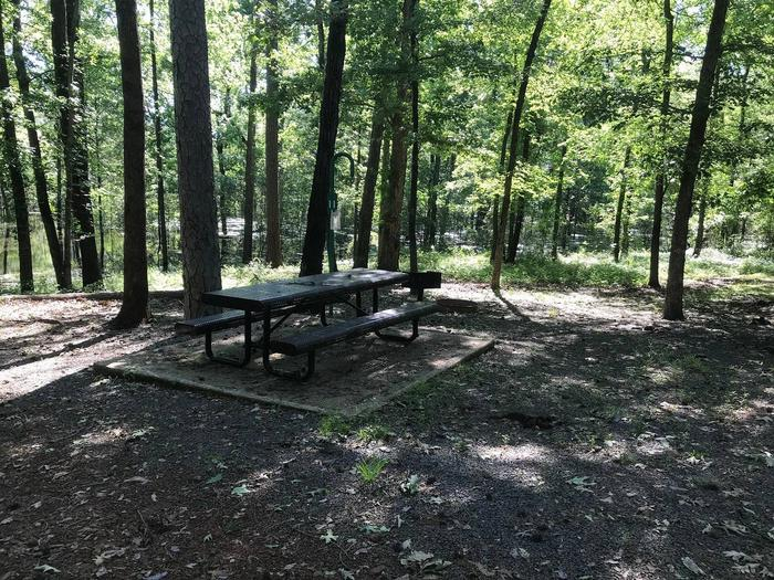 Campsite #11.Campsite #11. Tent site with the following amenities: fire-pit, grill, picnic table, lantern pole, trash can.