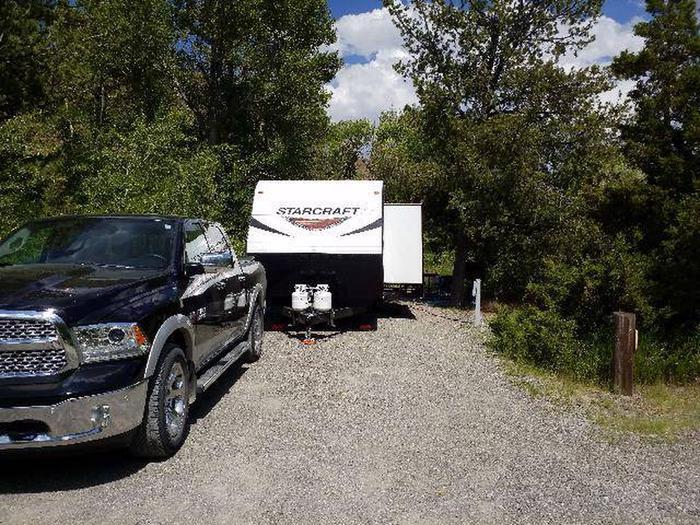 Wapiti Campsite 8 - Parking Area, gravel, truck, and RVWapiti Campsite 8 - Parking Area