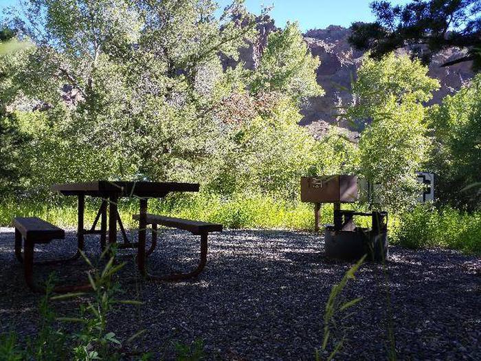 Wapiti Campsite 16 - Picnic Area and Back View