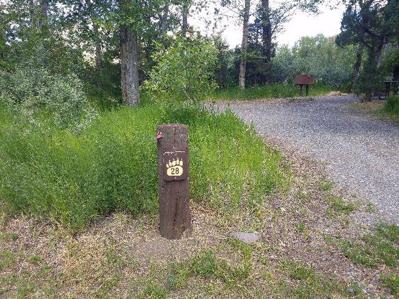 Wapiti Campsite 28 - Post