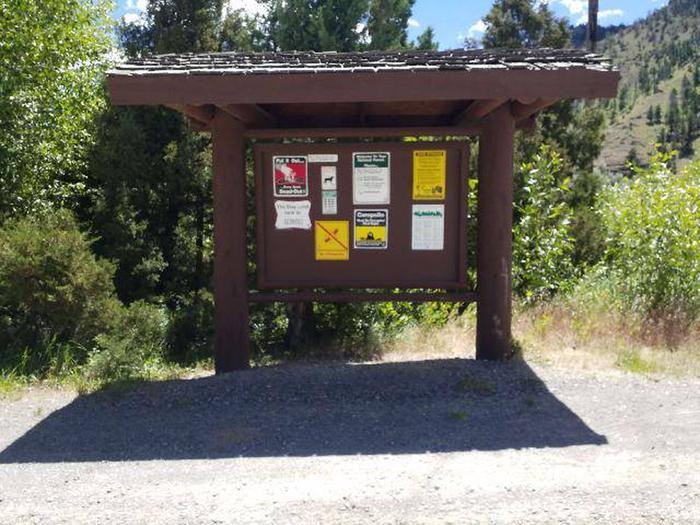 Wapiti Kiosk Information Board