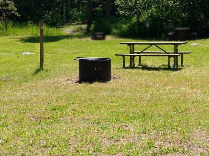 Beauty Creek Campground Site 8