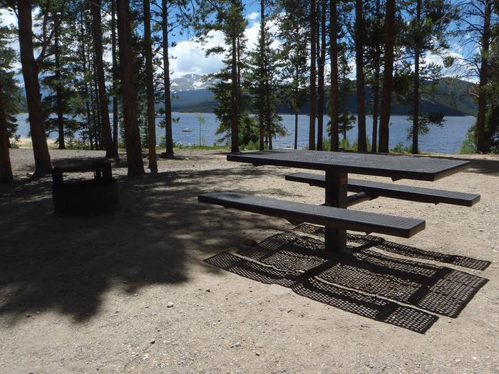Baby Doe Campground, site 10 picnic table and fire ring