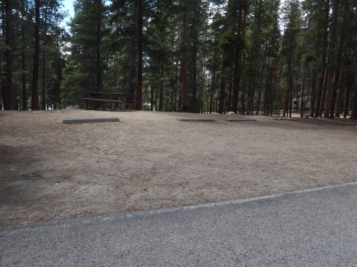 Baby Doe Campground, Site 22 parking
