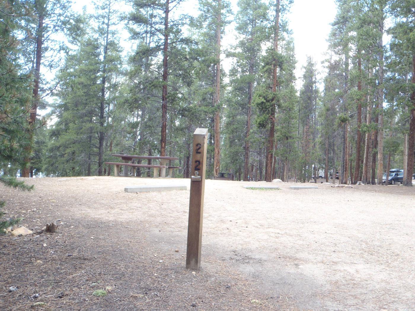 Baby Doe Campground, Site 22 marker