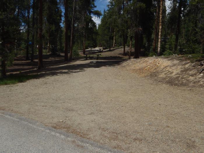 Baby Doe Campground, site 33 parking