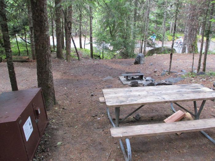 Picnic Table Fire ring and Bear boxPicnic Table, Fire ring, and Bear box
