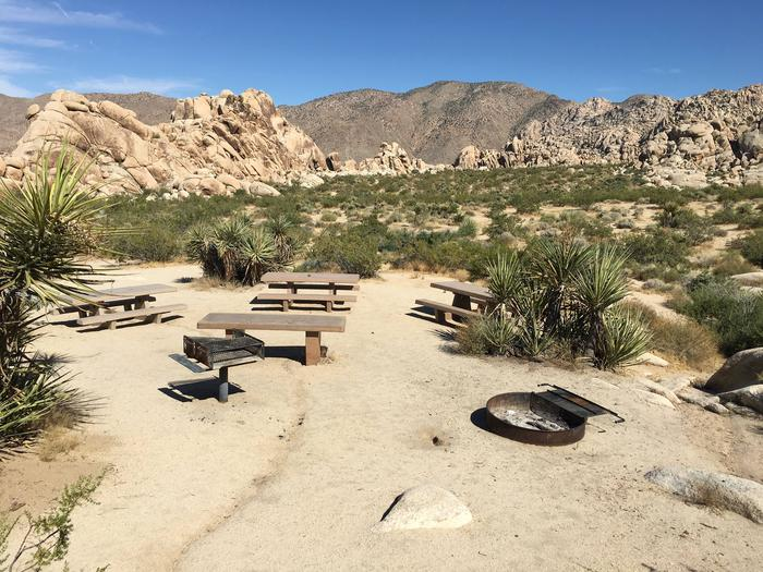Indian Cove Group Site 7 AmenitiesAmenities: BBQ Grill, Tables and In-Ground Fire Pit