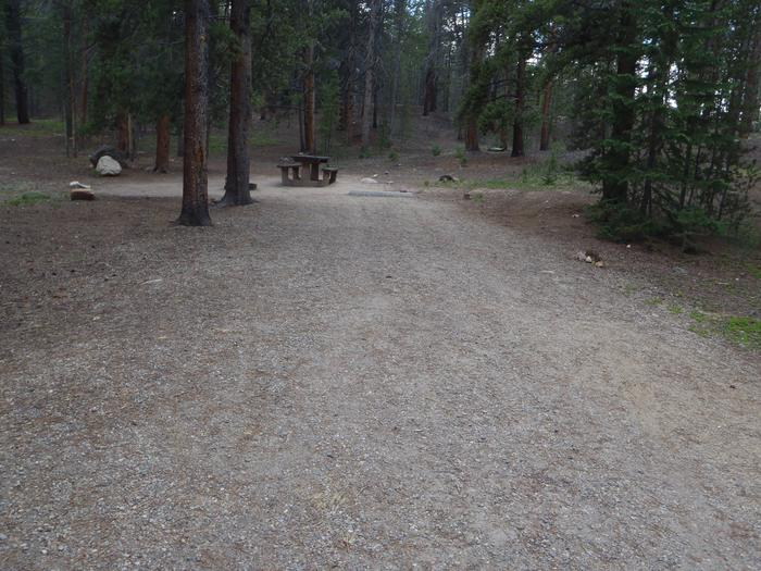 Father Dyer Campground, site 23 parking