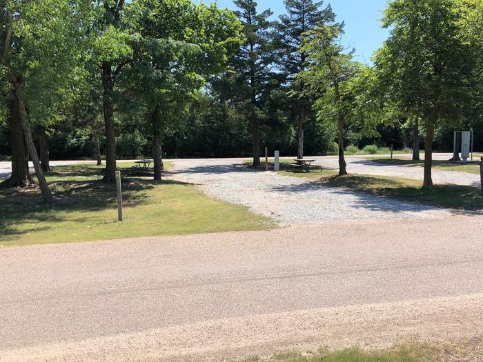 Pull through campsite Site 6
