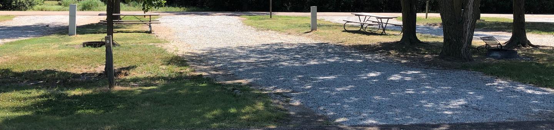 Pull through campsite Site 9