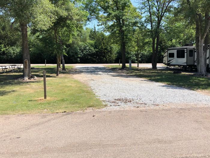 Pull through campsite Site 13
