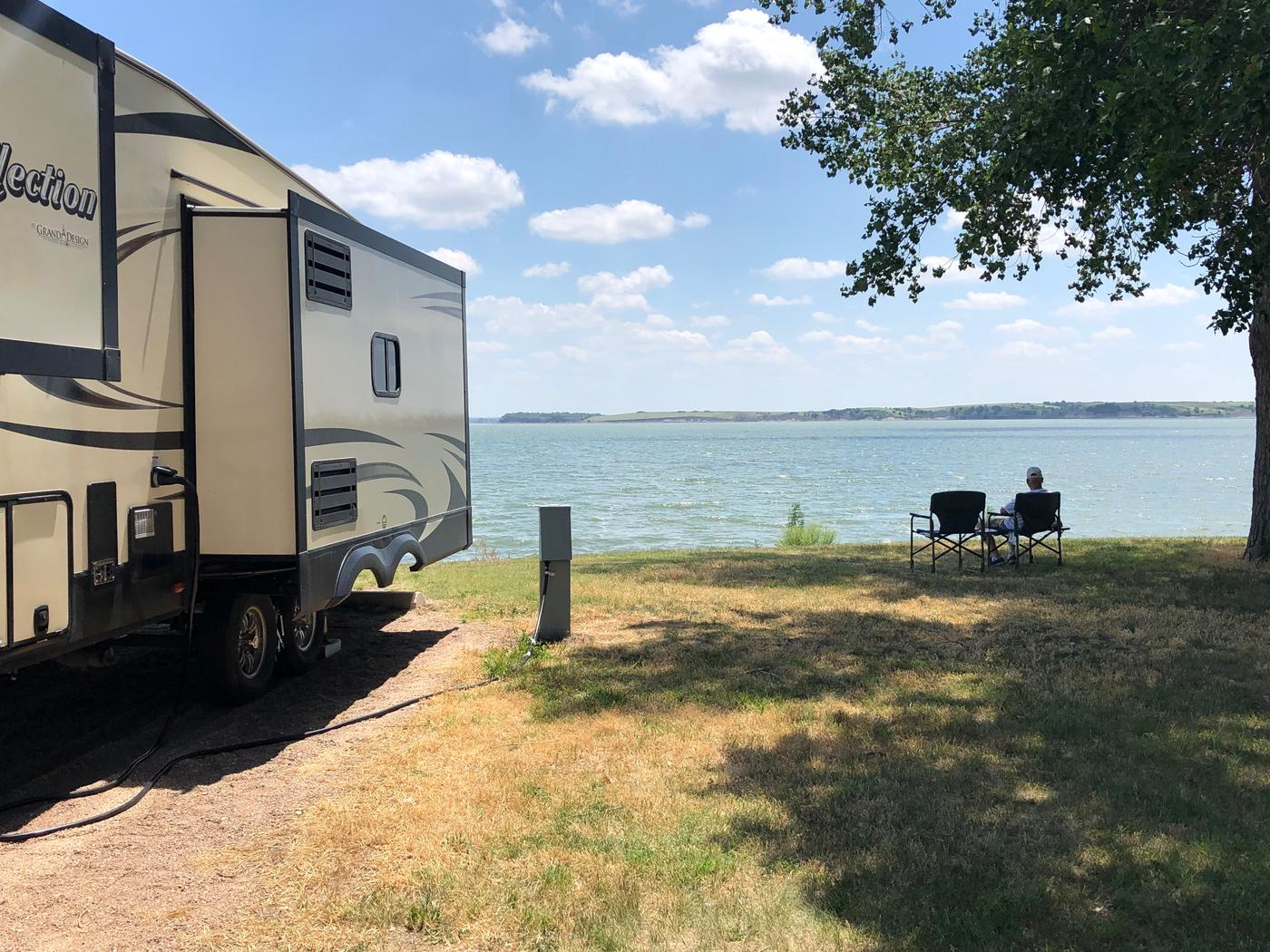 Lake front campsites Lake front campsites