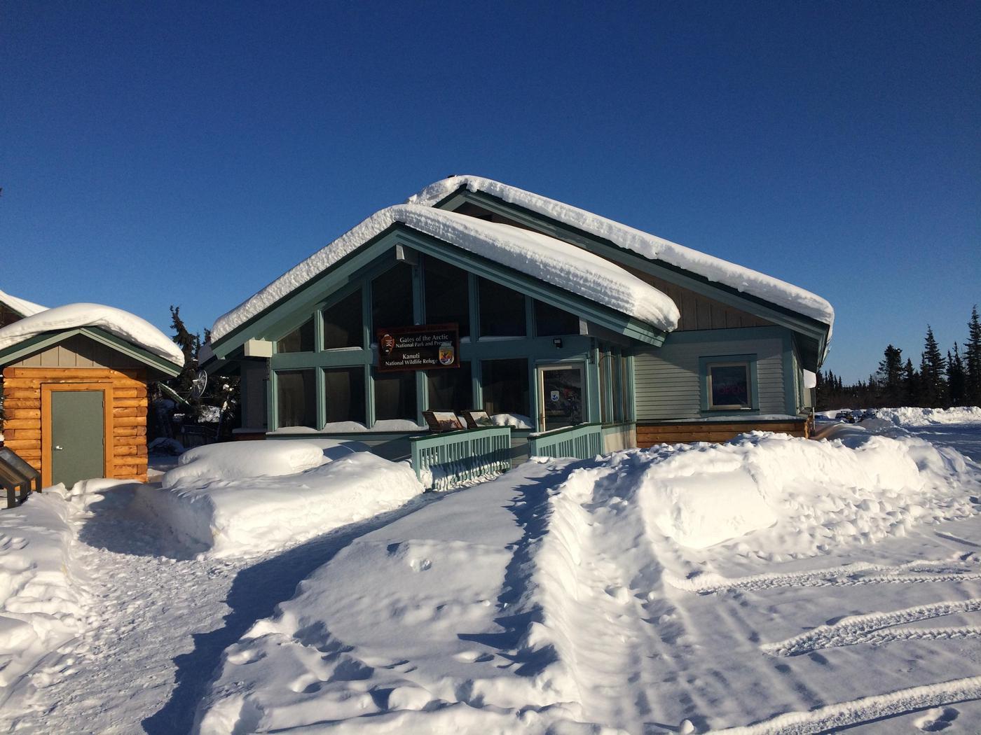 Bettles Ranger Station Winter 2Bettles Ranger Station in the winter.