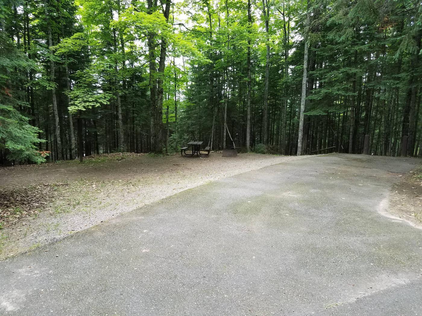 View of Lake Ottawa Campground campsite 18View of Lake Ottawa Campground campsite 18.
