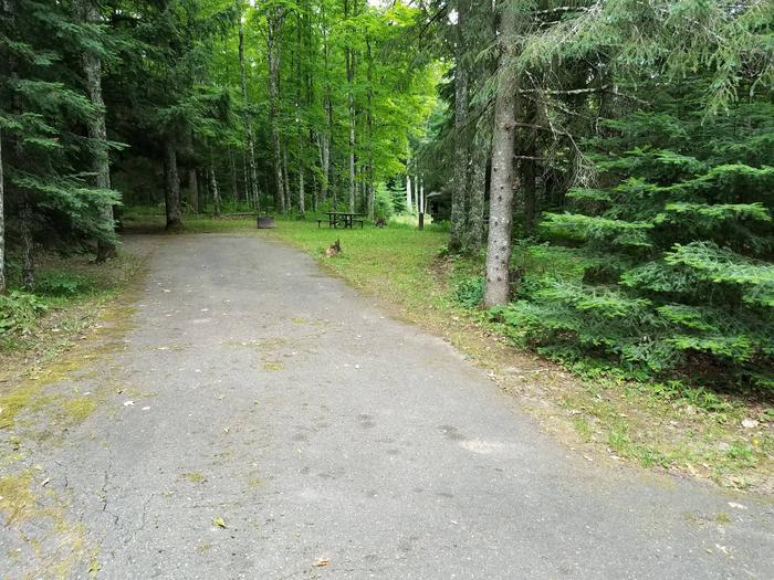 View of Lake Ottawa Campground campsite 26View of Lake Ottawa Campground campsite 26.