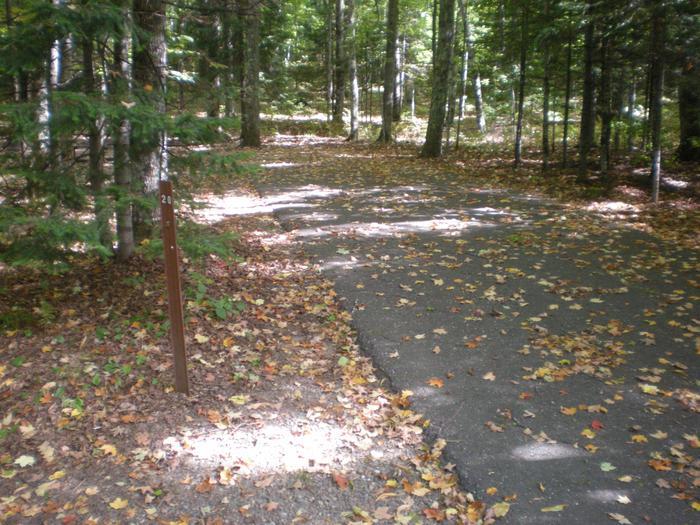 View of Lake Ottawa Campground campsite 20View of Lake Ottawa Campground campsite 20.